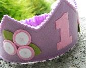Lavender Posey Birthday Crown