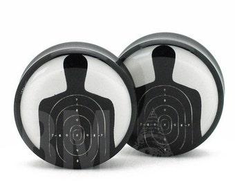 0g (8mm) Shooting Target BMA Plugs Pair