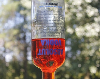Hummingbird Feeder from recycled Absolute Bottle