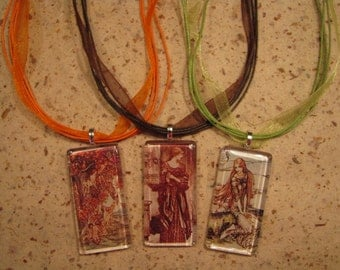 18 Inch Organdy Ribbon and Cord Necklace with Adjustable Chain in 18 Colors