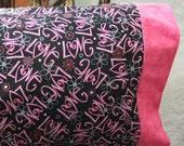 "Valentine ""LOVE"" Bed Pillowcase Greeting - Dorm Decor"
