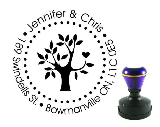 Personalized Self Inking Return Address Stamp - self inking address stamp - Custom Rubber Stamp R22