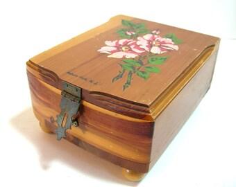 Vintage Asbury Park N.J. Cedar Wood Box
