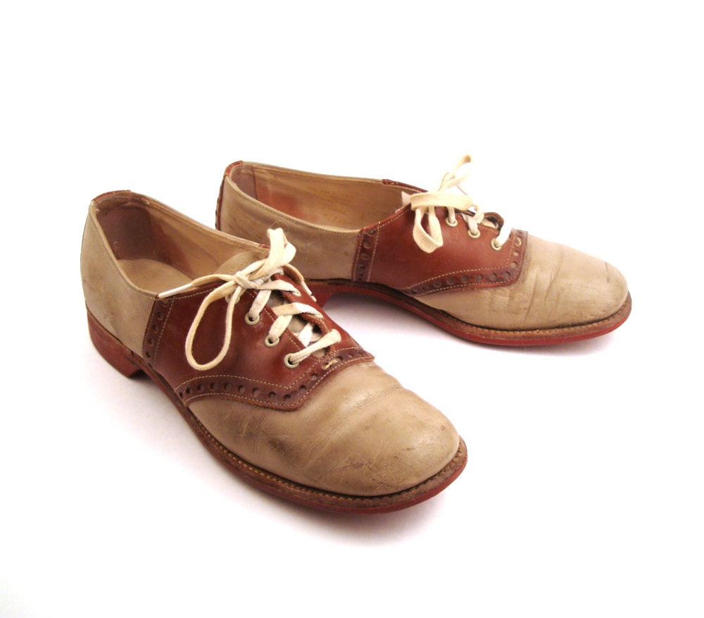 Tan Leather Saddle Shoes