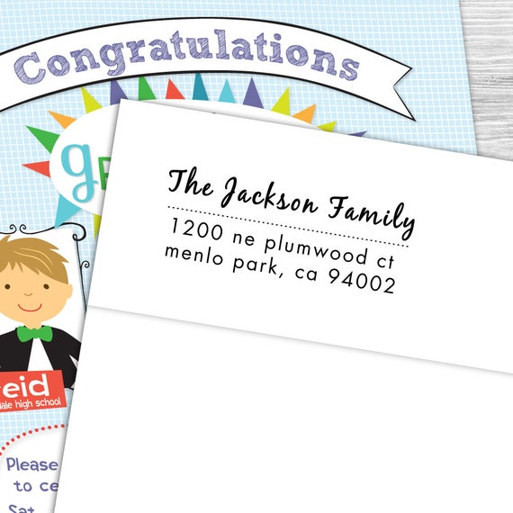 Custom address stamp with modern script font--101TS or 101SI