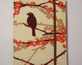 Kindle cover Hardcover, Kindle Paperwhite Cover, iPad Mini, Nook Tablet Cover,  Book Style, Aviary 2 Sparrows Bark