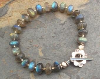 Labradorite Thai Hill Tribe Silver Bracelet - Aurora