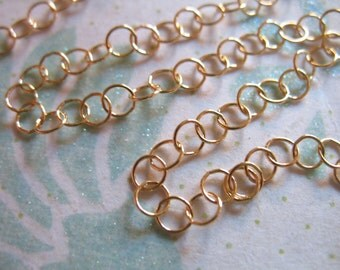 Shop Sale.. 14k Gold Filled Chain, by the Foot, 3.5x3.5 mm ROLO Necklace Chain, Extender Chain bulk bracelet unfinished mmgf mgf9