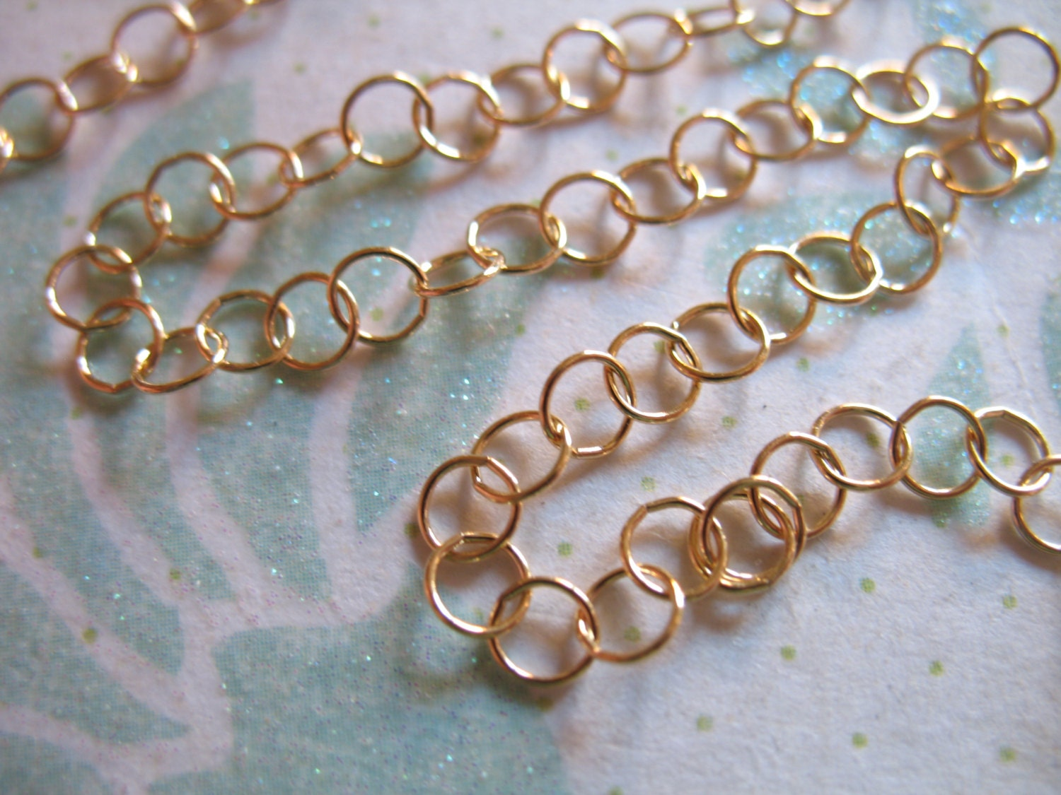 5 feet 35 mm rolo chain 14k gold filled chain by