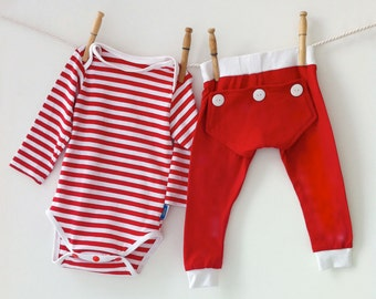 Red Stripe Valentines Day Pajamas, Baby's First Valentine's Day Outfit, My First Valentine, Valentines Outfit, Red Matching Pyjamas