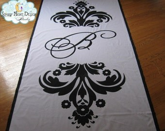 Aisle Runner, Wedding Aisle Runner, Custom Aisle Runner w/Monogram /Quality Fabric that Won't Rip or Tear // One of our Most popular designs
