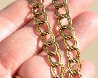 2 Antique Bronze Charm Bracelets C802