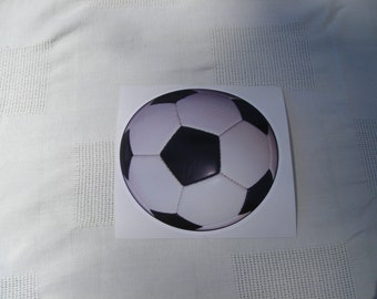 Black and White Soccer Ball Decal
