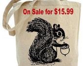 Squirrel - Eco Friendly Tote Bag - Canvas tote bag