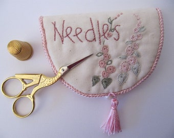 Embroidered Needlebook / Sewing Case