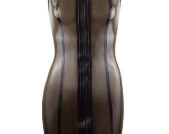 Latex  Collar Dress