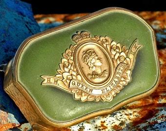 QUEEN Elizabeth II...  c. 1950 casket jewelry box from an estate sale... jewelry casket...  Home Decor... L T 10