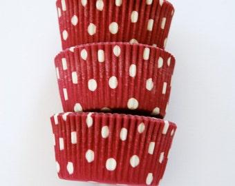 Magenta Pink Polka Dots Cupcake Liners (50 Liners)