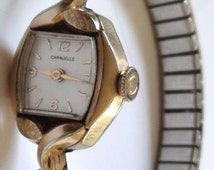 Lovely Caravelle Wind Up Watch 17 Jewels Ladys Expandable Gold Filled Mechanical and is in Excellent Condition Working  On SaLe Now