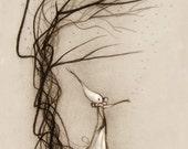 Beginnings- Lisa Snellings - Glicee on Watercolor Paper