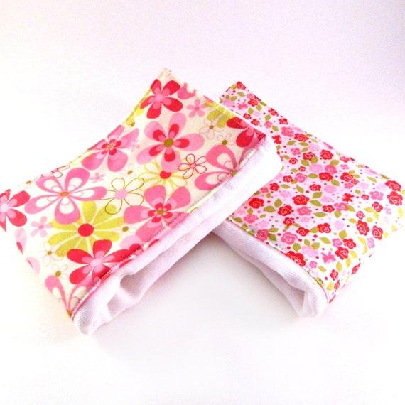 Wash Burp Cloths Before Use: Girl Burp Cloths Pink Flowers Burp Cloths By
