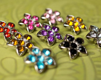 5 Rhinestone Buttons - Several Colors Available - Kendall Button - 25mm - Plastic Buttons - Acrylic Buttons