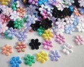 20 padded iridescent mini flowers appliques embellishments EM-149