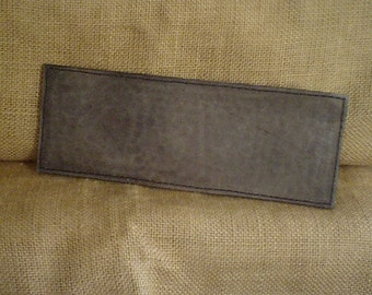 Handcrafted Leather PEBBLE FINISH Wallet in Antique Black
