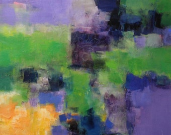 July 2013 - 1 - Original Abstract Oil Painting - 72.7 cm x 72.7 cm (app. 28.6 inch x 28.6 inch)