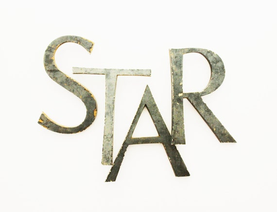 Star vintage letters vintage marquee letters large for Large vintage marquee letters