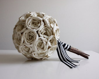 Ivory Rose Paper Bouquet