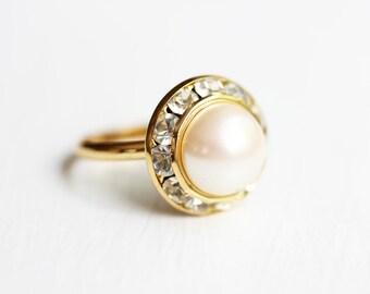 Pearl Crystal Ring