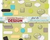Just Be Make Your Own Custom Flair Digital Scrapbook Embellishments