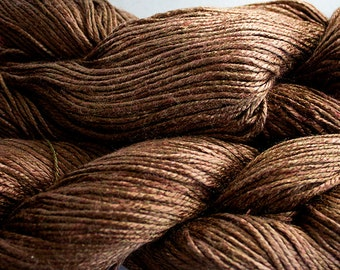 Silk Bamboo, Hand painted yarn, 225 yds - Tea