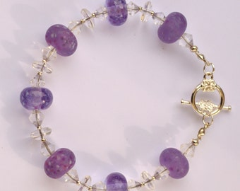 Lilac lampwork bead Bracelet