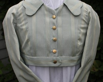 Regency Style Spencer in Striped Moire