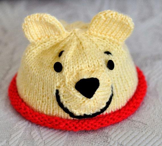 Bear Hat Knitting Pattern : Items similar to Hunny Bear Hat Knitting PATTERN 0-4yrs on Etsy
