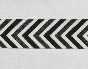 Black Chevron Tape Paper Washi