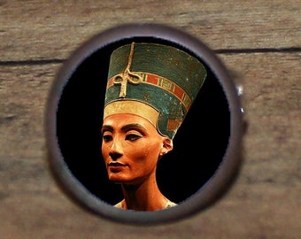 Pharaoh Queen NEFERTITI Tie tack or Cuff links or Ring or Pendant or Brooch
