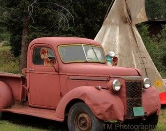 Glen Haven Old Truck Photo - Rusty Truck - Rusty Truck Photography - Tee Pee - Tee Pee Photo - Fine Art Photography