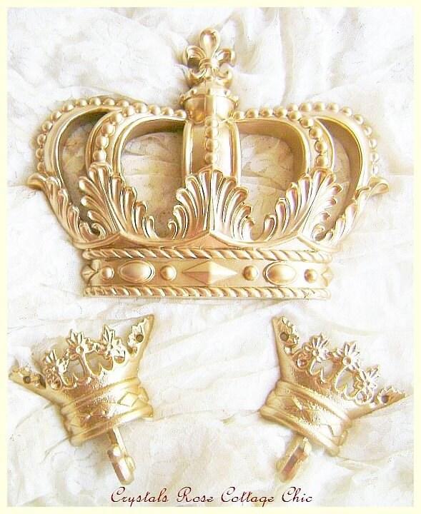 Bed Crown Canopy Crib Crown Nursery Design Wall Decor: Gold Fleur De Lis Bed Crown Canopy Set / Paint & Finish