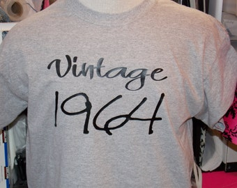 Vintage 64' 50th Birthday Shirt New Available In Any Year