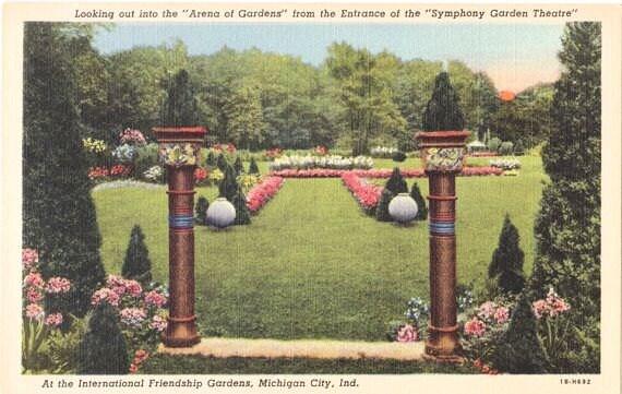 Vintage Indiana Postcard International Friendship By Vintageplum