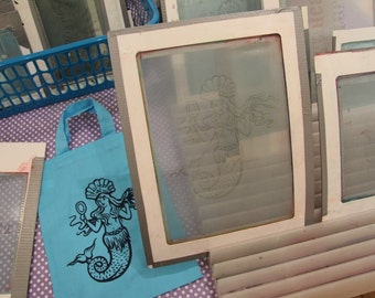 Sml / Med custom Thermofax screens - screen print onto fabric or paper