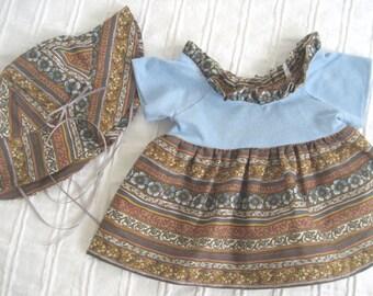 Teddy Bear Clothes, Laurel Dress & Sunhat