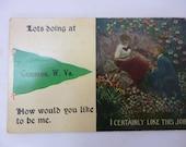Antique Postcard, Cameron, West Virginia, Romance, Unused