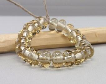 25 % off - 20 Spacer - Handmade Lampwork Beads - S 6