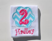 Personalized birthday shirt or bodysuit, boy or girl, birthdays 1-9
