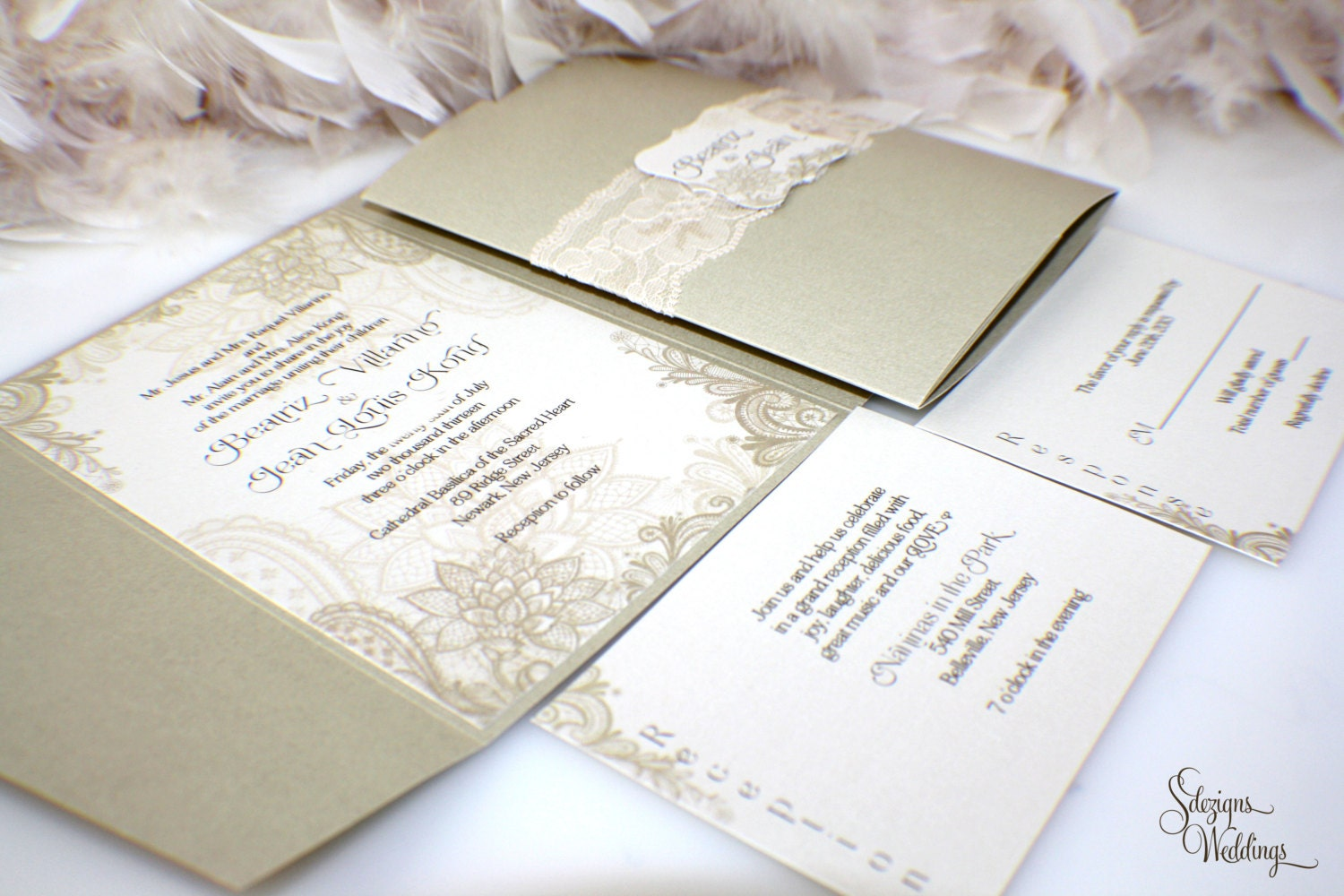 Gorgeous Wedding Invitations: Beautiful Lace Wedding Invitations