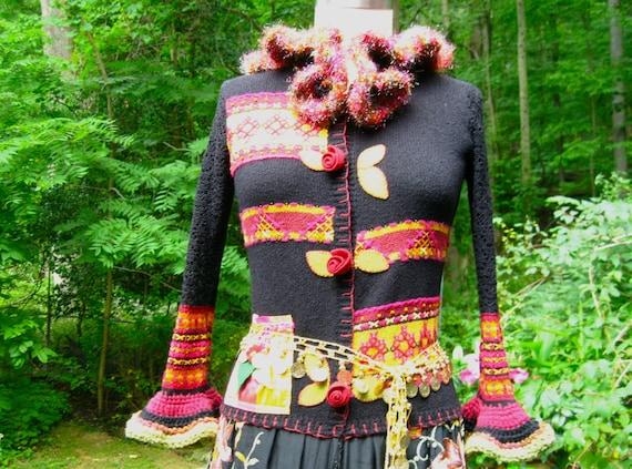波西米亚风格的毛衣外套 - maomao - 我随心动